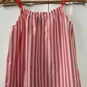Gap Kids Girls Sleeves Red White Striped Top